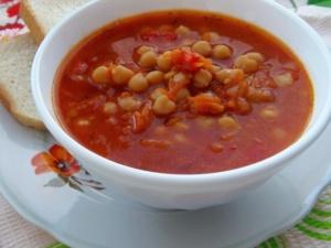 Вегетарианский нутовый суп по-египетски
